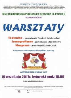 """Teatrzyk pod Kłobukiem"" - plakat"