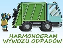 HARMONOGRAM WYWOZU ODPADÓW W GMINIE SZCZYTNO  W 2018 r.