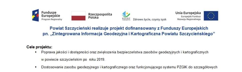 Zintegrowana Informacja Geodezyjna i Kartograficzna Powiatu Szczycieńskiego