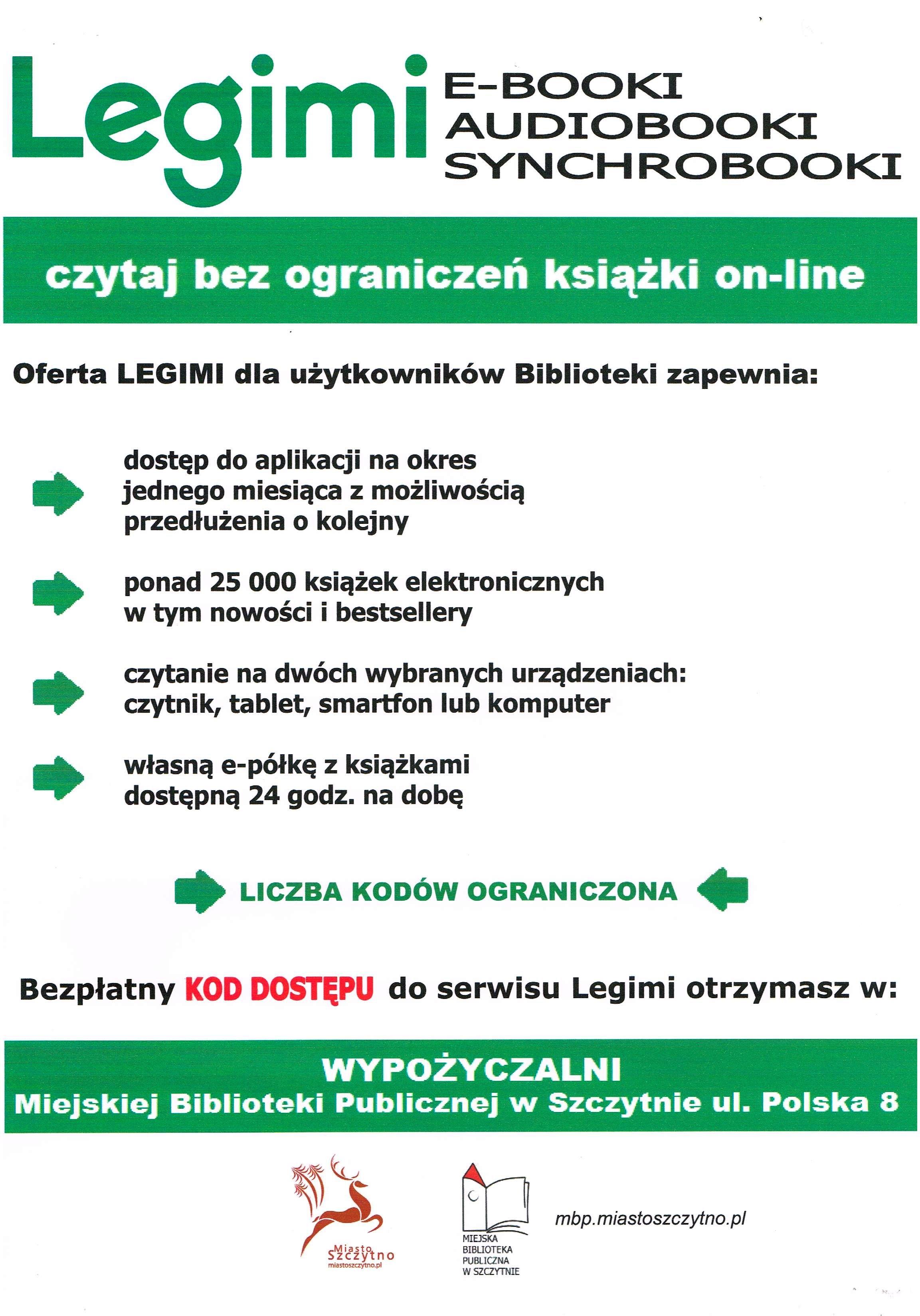 Wypożyczalnia e-booków w serwisie Legimi