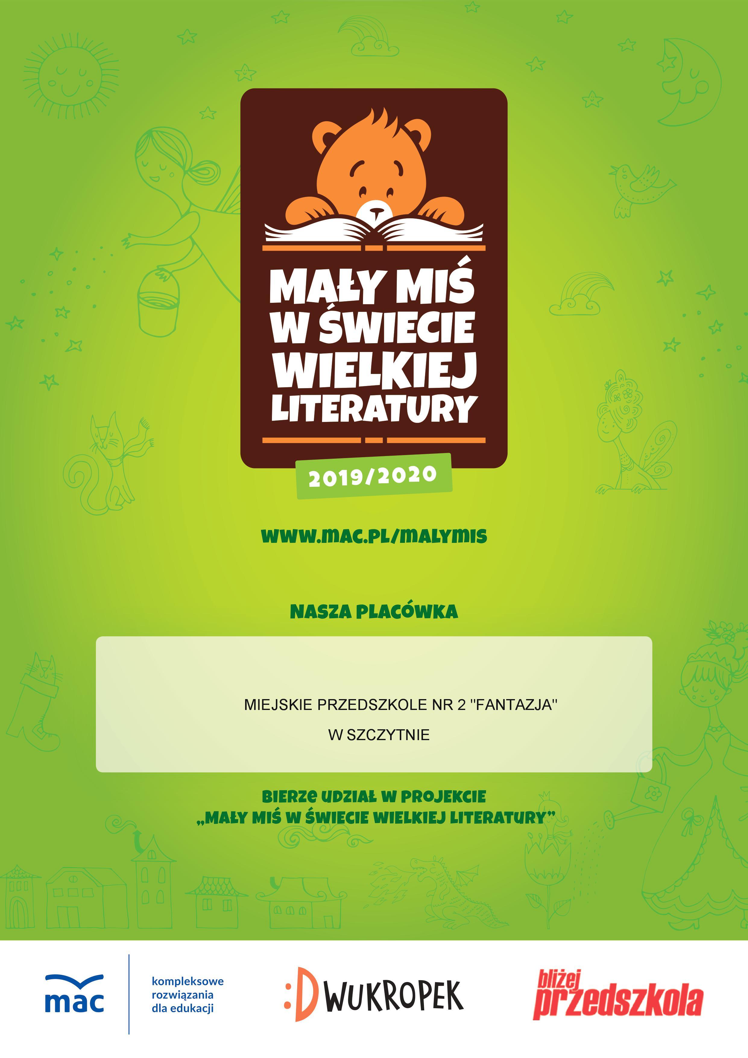 Mały Miś w świecie wielkiej literatury 2019/2010