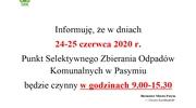 Informacja o PSZOK