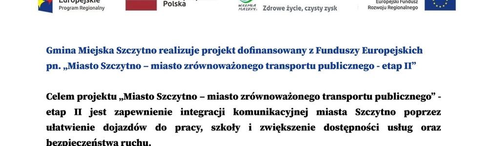 Miasto Szczytno – miasto zrównoważonego transportu publicznego - etap II