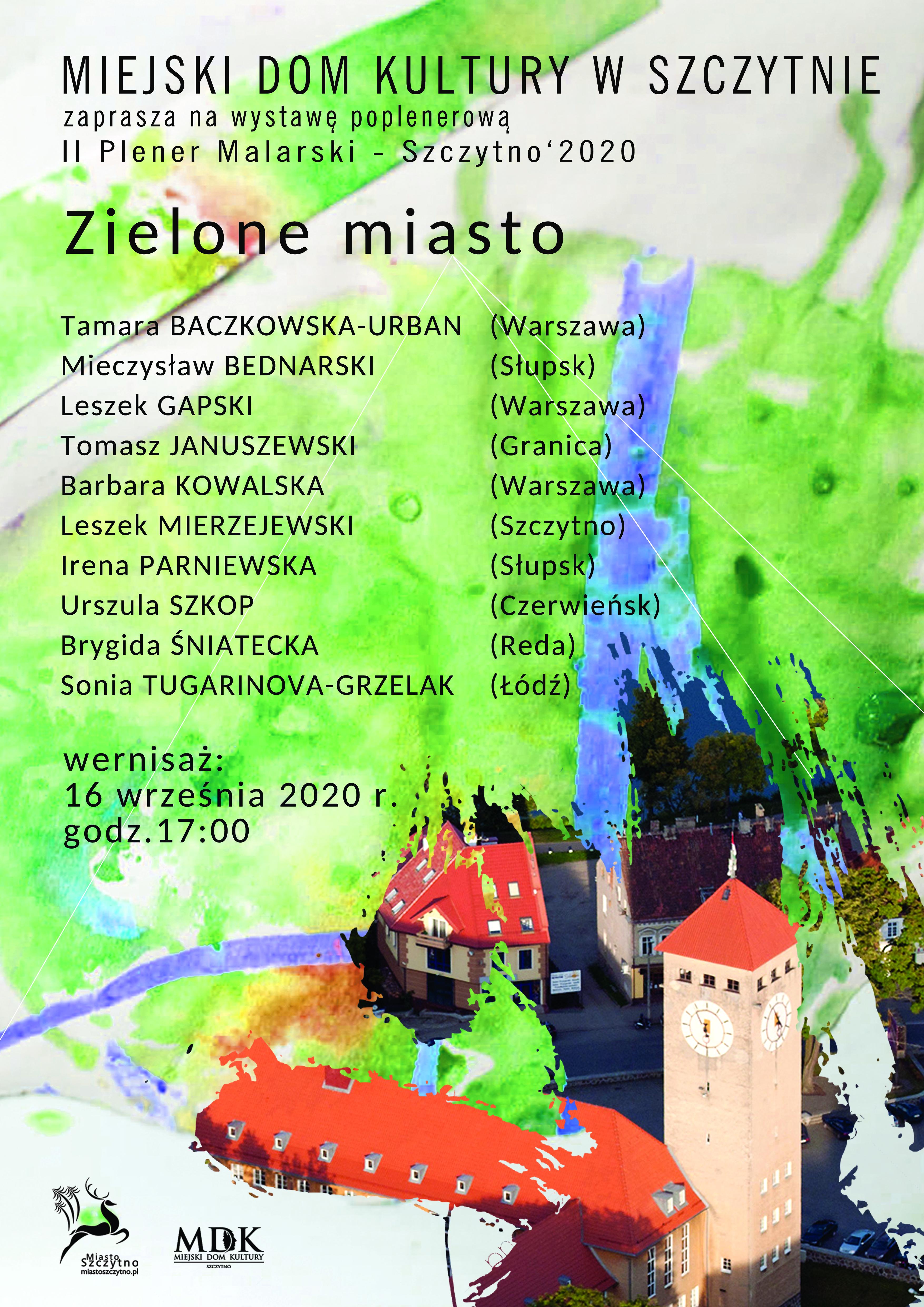 Wernisaż II Pleneru Malarskiego – Szczytno' 2020,
