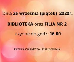 biblioteka - informacja