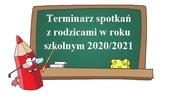 Terminarz spotkań z rodzicami w roku szkolnym 2020/2021