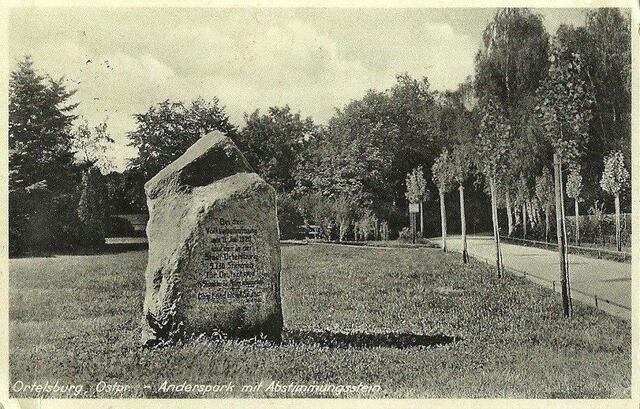 Szczytno - pomnik plebiscytowy (ze zbiorów Witolda Olbrysia)