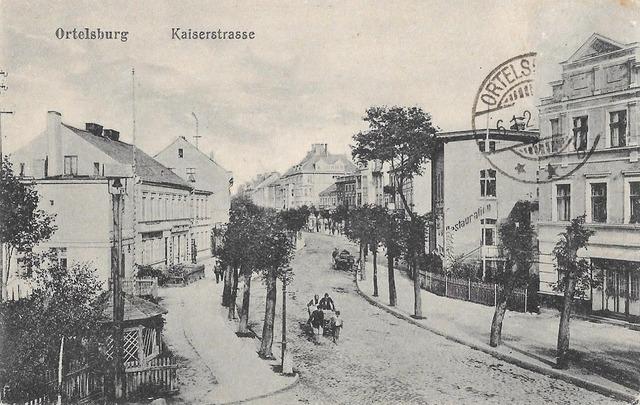 Hotel Germania jako siedziba Wschodniopruskiego Związku Społecznego. Ulica Cesarska