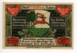 Banknot wydany z okazji pierwszej rocznicy plebiscytu (ze zbiorów Witolda Olbrysia)