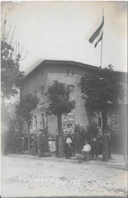 Hotel Germania. W dniu plebiscytu mieścił się w nim lokal do głosowania. (ze zbiorów M. Rawskiego)