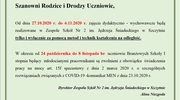 Organizacja pracy ZSNr2 od dnia 27.10.2020 r
