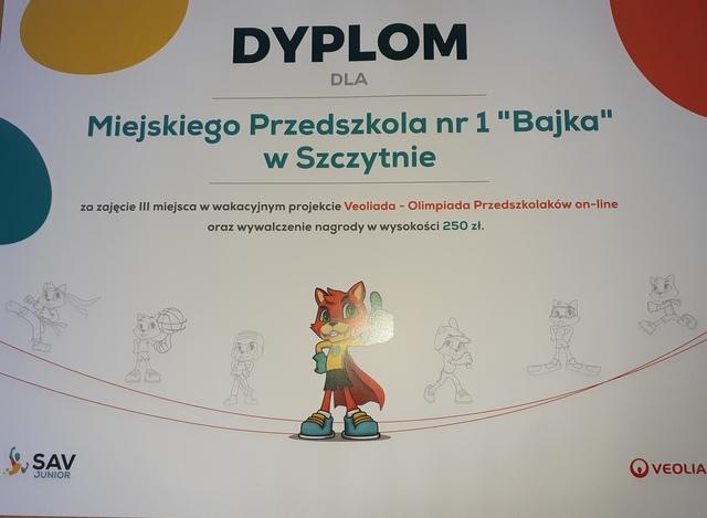 Veoliada – Olimpiada Przedszkolaków on-line!