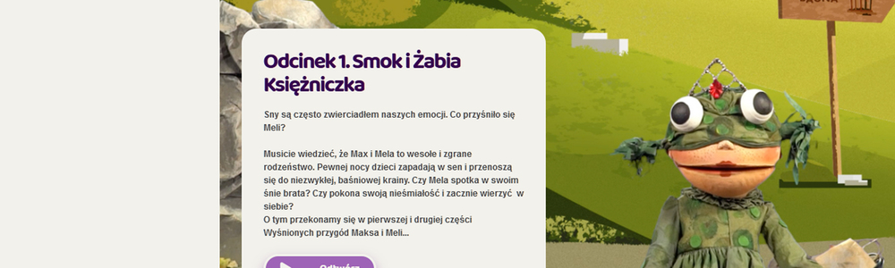 """""""Wyśnione przygody Maksa i Meli"""" - interaktywny teatr online"""