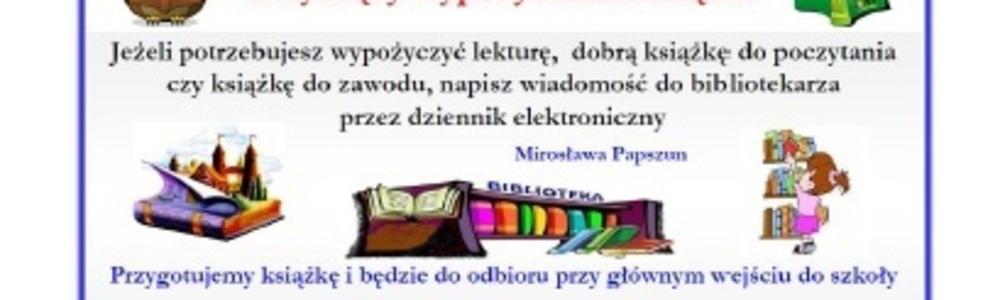 Komunikat dotyczący wypożyczania książek
