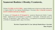 Organizacja pracy ZSNr2 od dnia 9.11.2020 r