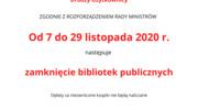 Miejska Biblioteka Publiczna w Szczytnie ZAMKNIĘTA