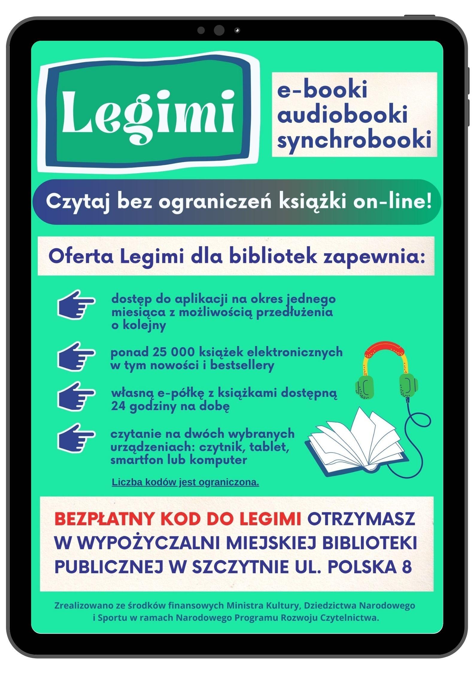 Kody do Legimi dostępne w bibliotece