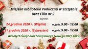 Godziny otwarcia biblioteki w Wigilię i Sylwestra