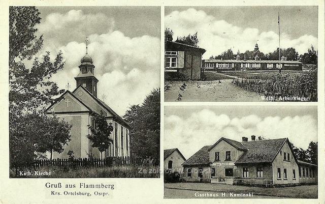 Widokówka przedstawiająca miejscowość Opaleniec