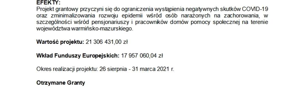 """""""Pomagajmy Razem"""" nr: POWR.02.08.00-00-0103/20"""