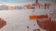 Zima w Szczytnie i okolicy w pracach plastycznych na podstawie zdjęć klas IV - VII