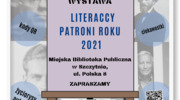 Literaccy Patroni Roku 2021 - wystawa w bibliotece