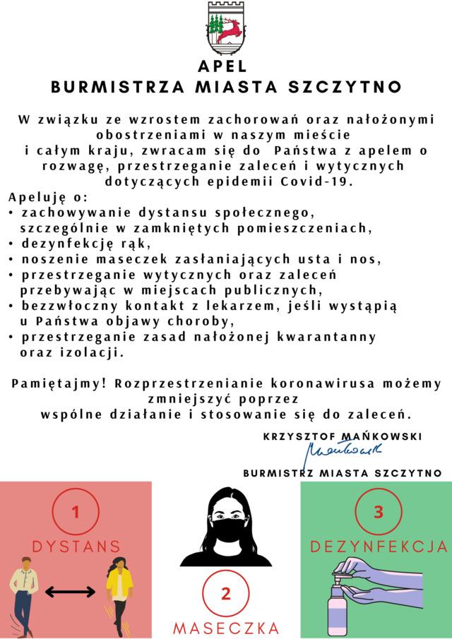 Apel Burmistrza Miasta Szczytno