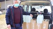 Prawie 1000 litrów płynów do dezynfekcji rąk i powierzchni trafiło do jednostek pomocy i integracji społecznej