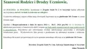 Zajęcia w Zespole Szkół Nr 2 od 29.03. do 09.04.2021r.