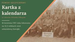 Pocztówka przedstawia żołnierzy niemieckich w Zawojkach. Rok 1915. Ze zbiorów M. Rawskiego.