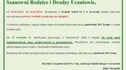 Zajęcia w Zespole Szkół Nr 2 od 19.04. do 23.04.2021r.
