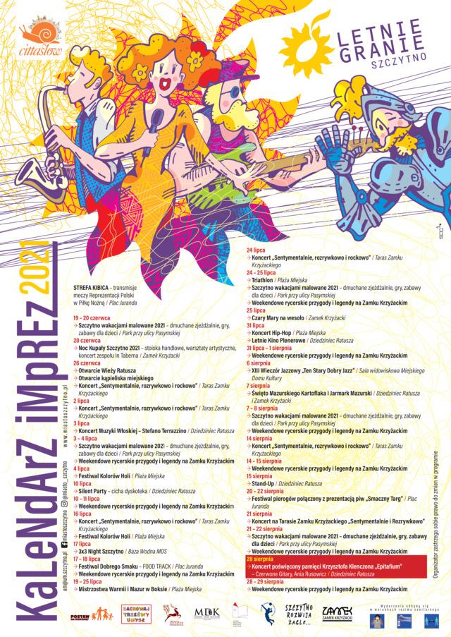Kalendarz imprez letnich, Szczytno 2021