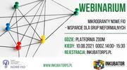 Bezpłatne webinarium - mikrogranty Nowe FIO - wsparcie dla grup nieformalnych