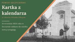Fot: Heimatbote der Kreisgemeinschaft Ortelsburg. Zdjęcie przedstawia nieistniejącą dziś synagogę.