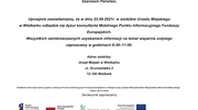Dyżur konsultanta Mobilnego Punktu Informacyjnego Funduszy Europejskich - 23.09.2021r.