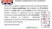 Wewnątrzszkolny konkurs z języka angielskiego - English Competition for Students